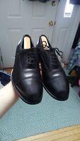 Vintage W. Barratt Black Calf Cap Toe Oxford Balmoral Dress Shoes Park Avenue