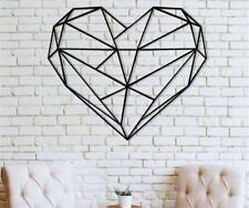Metal Wall Art Geometric Heart Metal Wall Decor Bedroom Decoration Love Gift