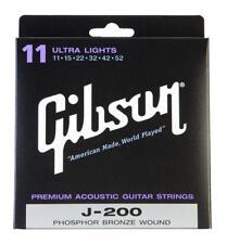 GIBSON J200LPHOSPHOR BRONZE SAITEN ULTRA LIGHT WESTERNGITARRE .011 - .052 SEIDE