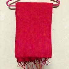 Pink Red Yak Wool Shawl Scarf Wrap Tibetan Nepalese Handmade Nepal YS04