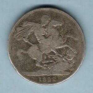 Great Britain. 1822 George 1111 - Crown..  TERTIO..   VG