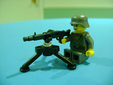 LEGO LOT #15 CUSTOM WW2 WORLD WAR 2 DARK GRAY GERMAN SOLDIER WITH MACHINE GUN