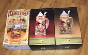 Budweiser stein Lot Of 3 1988 Tavern/festival (IV & V) And 1991 Classic Stein