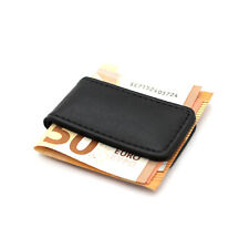 Fermasoldi uomo magnetico slim in ecopelle porta banconote portafoglio clip