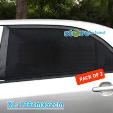 2x Car Window Mesh Socks Rear Side Sun Shade UV Protection Black SUV sox Size XL