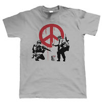 Banksy Peace Soldiers Mens T Shirt - Graffiti Urban Art Style