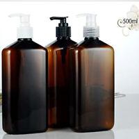 2Pcs 500ml Empty Dispenser Bottle for Bathroom Kitchen Washroom Shampoo Soap