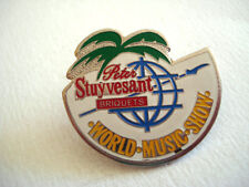 PINS RARE PETER STUYVESANT TABAC WORLD MUSIC SHOW