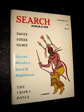 SEARCH MAGAZINE November 1966 Ray Palmer Publications UFO's Occult Paranormal