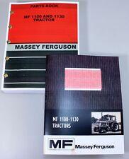 Set Massey Ferguson 1100 1130 Tractor Owners Operators Parts Manual Catalog Book