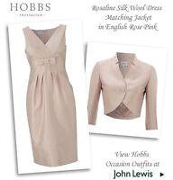"BEAUTIFUL SHELL PINK ""ROSALINE"" DRESS SUIT FROM HOBBS UK10 RRP £400.00"
