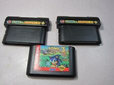 Lot of TWO Sonic And Knuckles and ONE Sonic the Hedgehog 3 for Sega Genesis