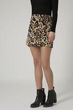 Topshop Tall Leopard Print Mini Skirt Size 10