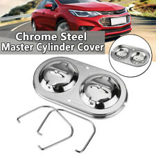Chrome Master Cylinder Cover Dual Bail Brake Fit For GM Chevy SBC BBC 350