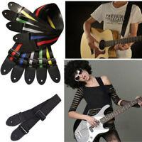 New Acoustic Electric Guitar Bass Nylon Adjustable Strap Belt Guitar Strap