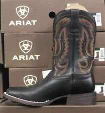 Ariat Mens Circuit Competitor Round Toe Boots Limosine Black 10025078 Many Sizes
