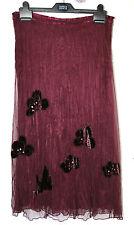 Per Una UK10R EU38R US6R new purple (damson) skirt – net over crinkled lining