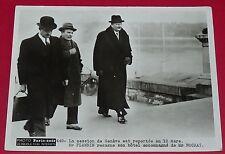 RARE PHOTO PARIS-SOIR 1936 PIERRE-ETIENNE FLANDIN et CHARLES ROCHAT