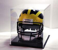 New England Patriot football helmet NFL solid black base acrylic memorabila full