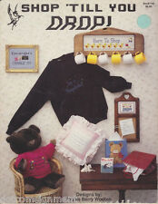 """Pegasus """"SHOP 'TILL YOU DROP!"""" Leaflet in Counted Cross Stitch Designs"""