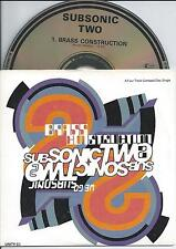 SUBSONIC TWO - Brass construction CD SINGLE 4TR CARDSLEEVE UK 1990 RARE!