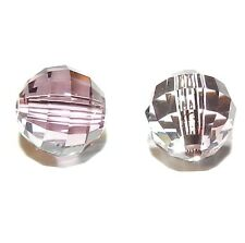 SCD1109f Antique Pink 8mm Faceted Chessboard Round Swarovski Crystal Beads 2pc
