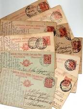1918  21 x  ITALIAN POSTAL STATIONERY CARDS TO MILANO - ITALY