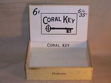 Vintage Coral Key Cigar Box Great Deco / Display