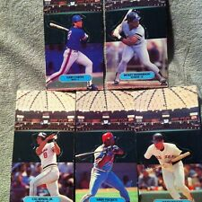 Baseball Lot Fold Out Pop-up Figure Cards Ricky Henderson Gary Carter Vintage!
