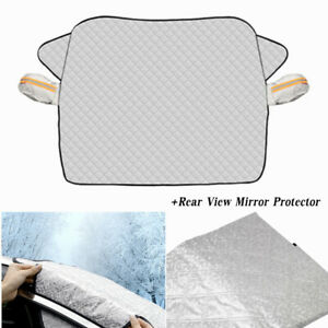 Car Windshield Cover Shade Snow Ice Protection 2 Layer Fits for Most Cars SUV