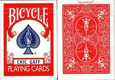 Chic Gaff Bicycle Red Playing Cards Poker Size Trick Deck USPCC Custom Limited