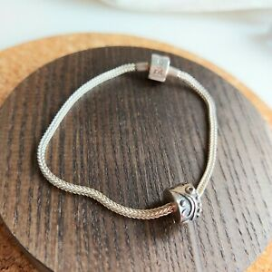 RHONA SUTTON Sterling Silver Foxtail Charm Carrier Bracelet With Stopper, 19 cm