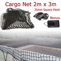 2m x 3m Cargo Net 35mm Square Mesh Heavy Duty Large Safe Ute Trailer Boat Trucks