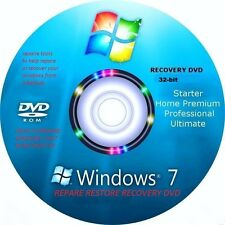 Windows 7 Recovery / Repair disk All Versions 32 -bit Utillity Tools disk