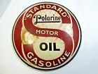 POLARINE+MOTOR+OIL+GASOLIINE+SIGN+ANTIQUE+PORCELAIN+STANDARD+OLD+ORIGINAL+RARE+