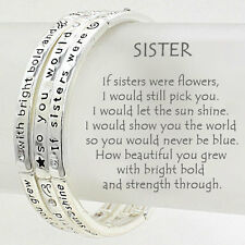 Sisters Bracelet Like Flowers Pick You Set3 SILVER Inspirational Message Jewelry