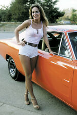 CATHERINE BACH THE DUKES OF HAZZARD 36X24 POSTER CAR