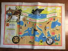 Vintage. The Mediterranean Cruise Canvas Poster USS ENTERPRISE CVAN 65