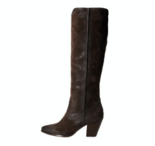 NEW 6.5 Frye Renee Seam Tall Brown Oiled Suede Knee High Distressed Boots $378