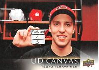 18/19 UPPER DECK UD CANVAS #C15 TEUVO TERAVAINEN HURRICANES *59285