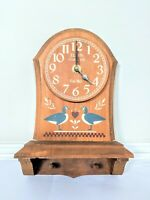 Vintage Elgin Clock Company Habersham Country Collection Wall Mount with Pegs