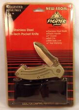 BRAND NEW Fighter Plus Stainless Steel Hi-Tech Pocket Knife Item LK2716