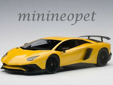 AUTOART 74558 LAMBORGHINI AVENTADOR LP750-4 SV 1/18 MODEL CAR METALLIC YELLOW