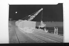 (4) B&W Press Photo Negative Boston and Maine Railroad Repair Crane Water -T3183