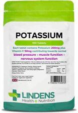 Potassium 200mg 100 Tablets Lindens Health + Nutrition (0878)