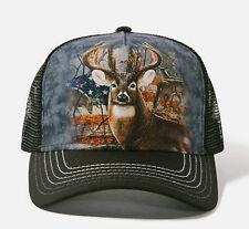 "NWT The Mountain Hat ""Patriotic Buck"" Deer Adjustable, Spring/Summer, Black"