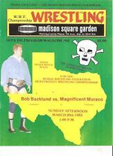 Madison Square Garden Backlund Muraco WWF Wrestling program NWA 1983 Graham mint