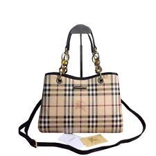Authentic Burberry handbag in Haymarket check and black color