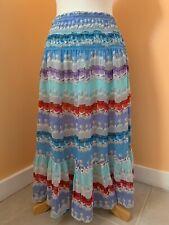 women's multicolor Rosa Chá sheer silk skirt size M