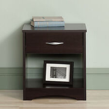 Brown Cherry One Drawer Nightstand Home Living Bedroom Storage Accent Furniture